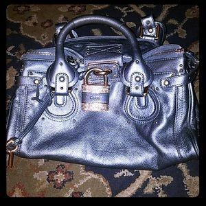 Chloe rhinestone lock and key bag